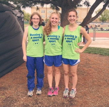 Amber Squires, Megan Blome and I after racing the 3200 at the 2015 HAC track and field championships. Nearly every time I raced the 3200 in high school, Amber and Megan were there. Unfortunately, they were also there to see me puke.